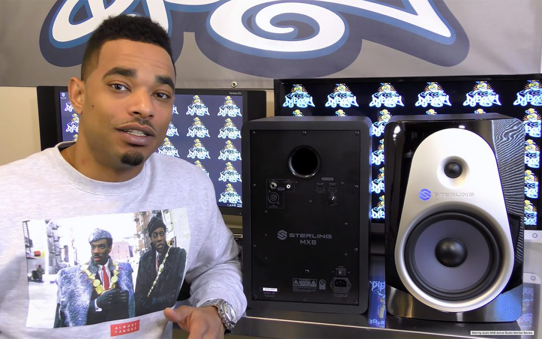 Review of Sterling Audio MX8 Active Monitor by DJ Booth