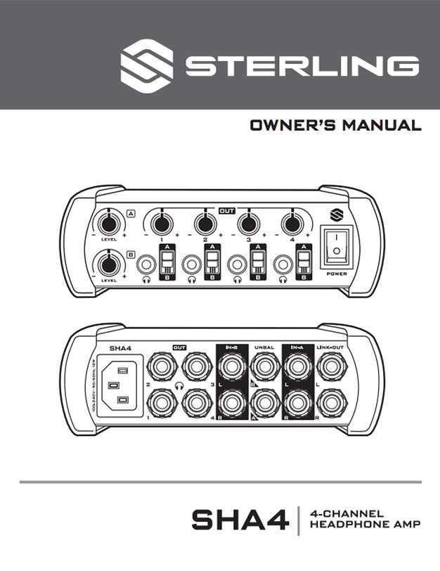 Sterling SHA4 Manual