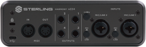 Sterling H224 Audio Interface Back View